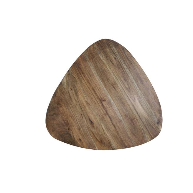 Light & Living Bijzettafel 'Chasey', hout bruin-zwart