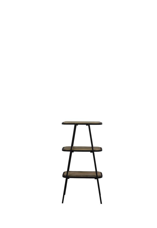 Light & Living Stellingkast 'Colavi' 3-Lamps, hout zwart