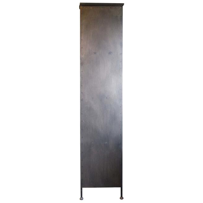 PTMD Vitrinekast 'Simple' Metaal, 183 x 63cm