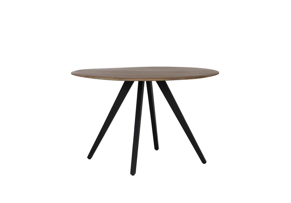 Light & Living Eettafel 'Mimoso' 120cm, Acaciahout / Zwart