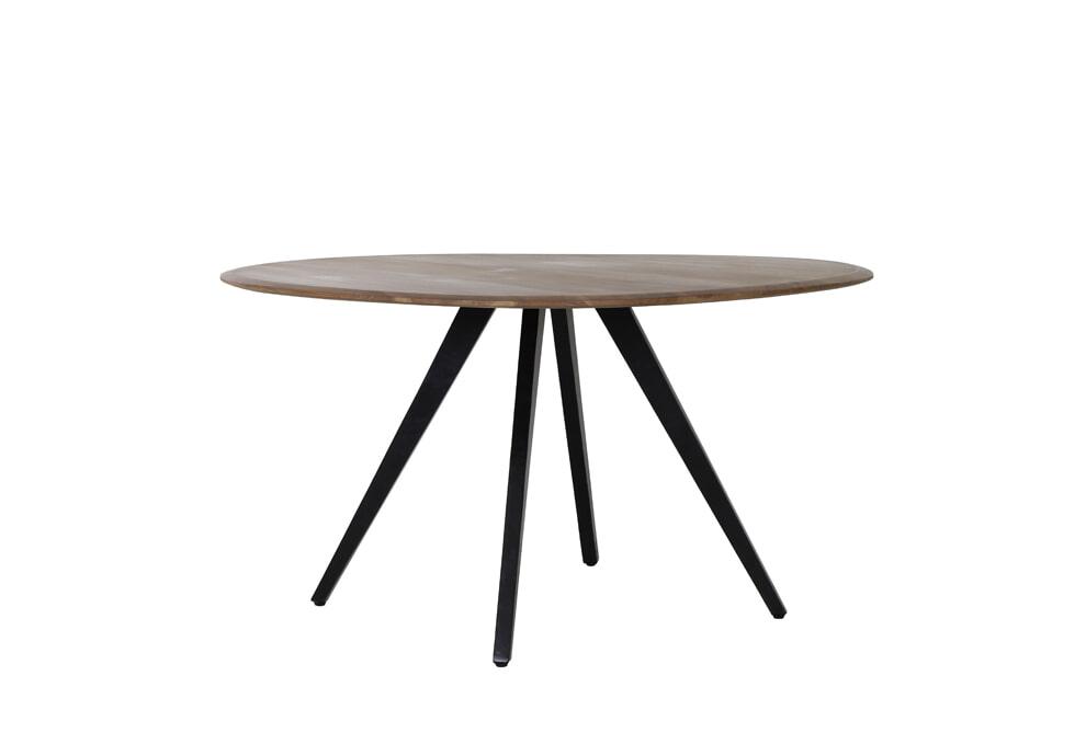 Light & Living Eettafel 'Mimoso' 140cm, Acaciahout / Zwart