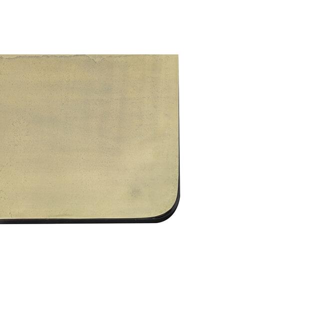 Light & Living Bijzettafel 'Lebu' Set van 2 stuks 46x46x45+, antiek koper+brons