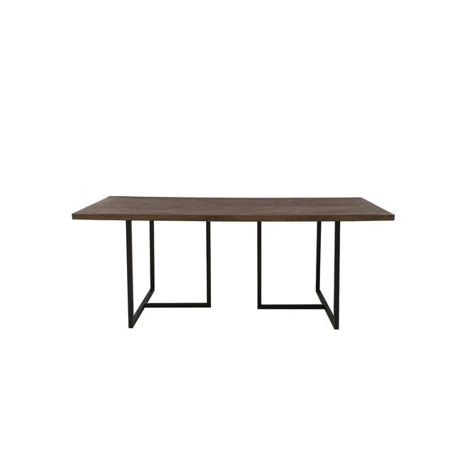 Light & Living Eettafel 'Chisa', hout bruin-zwart