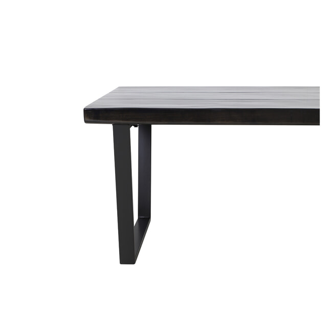 Light & Living Eettafel 'Mayen' kleur Glanzend Zwart
