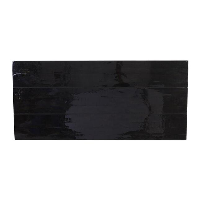 Light & Living Eettafel 'Mayen', 220 x 100 cm, Glanzend Zwart