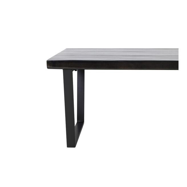 Light & Living Eettafel 'Mayen', 240 x 100 cm, Glanzend zwart