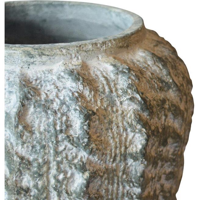 PTMD Pot 'Rugged', Keramiek, 36 x 37cm, kleur Grijs