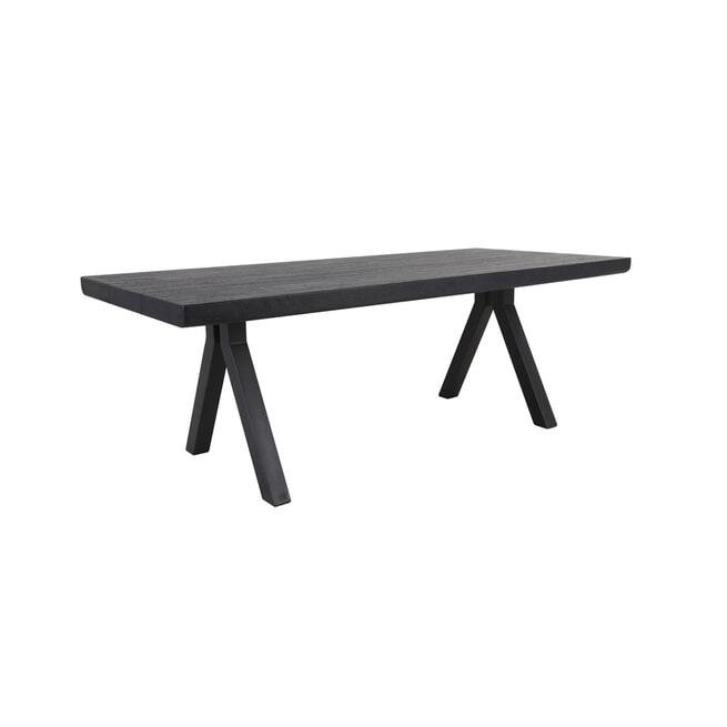 Light & Living Eettafel 'Muden', mat zwart