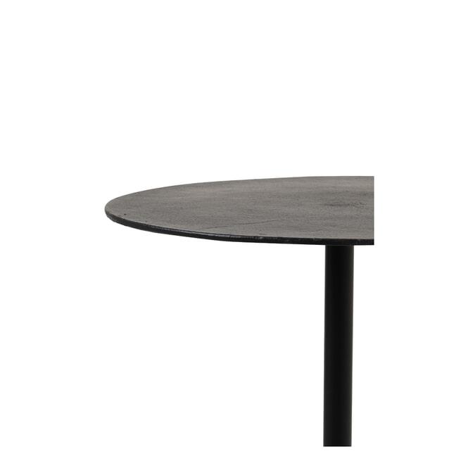 Light & Living Bijzettafel 'Molo' 55cm hoog, kleur Mat Zwart