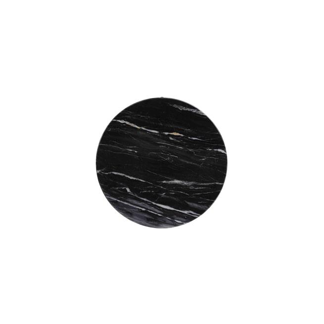 Light & Living Bijzettafel 'Lomelo' zwart marmer