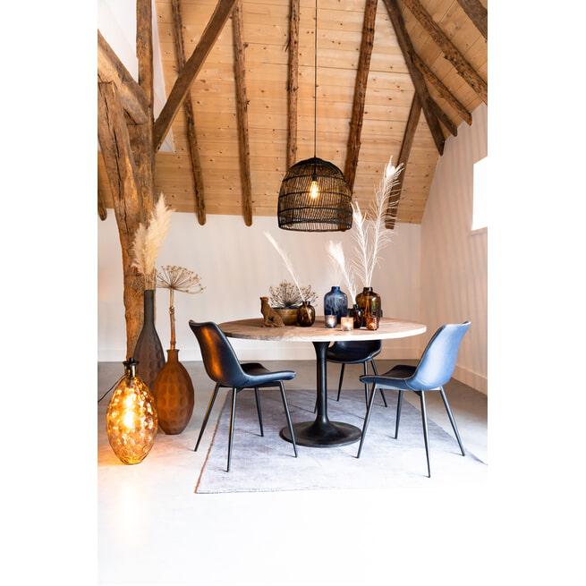 Light & Living Ronde Eettafel 'Biboca' Acaciahout, kleur Grijs