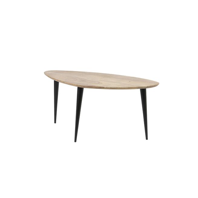 Light & Living Salontafel 'Chevano', hout bruin-zwart