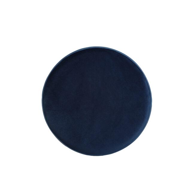 Light & Living Kruk 'Alice' (zithoogte 73cm) Velvet, kleur Donkerblauw