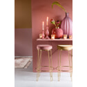 Light & Living Kruk 'Alice', velvet oud roze+goud