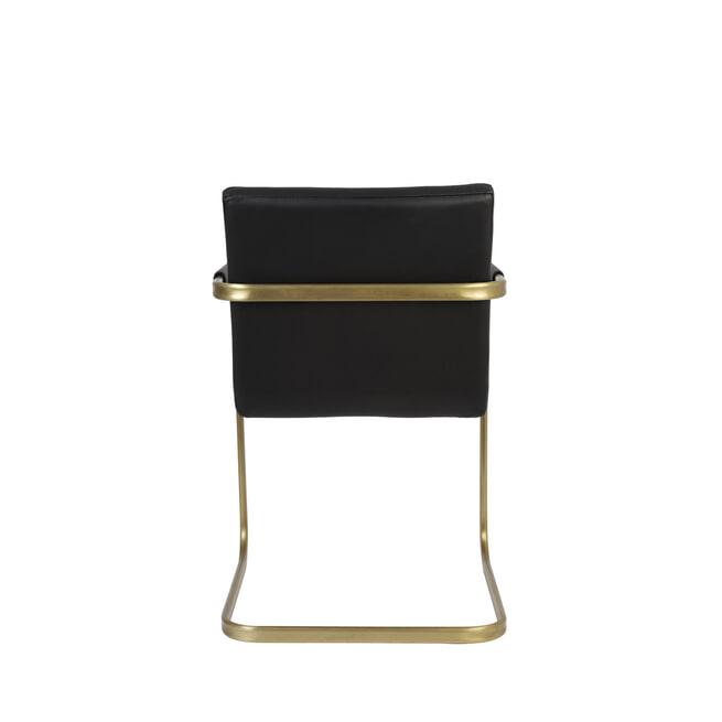 Light & Living Stoel 'Rocco', zwart+goud