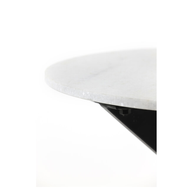 Light & Living Salontafel 'Tomochi', kleur Wit Marmer, Ø65cm