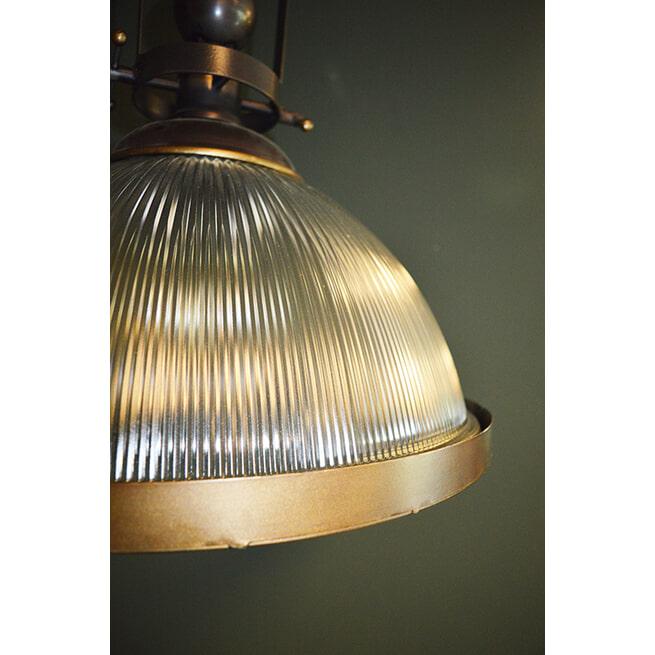 PTMD Hanglamp 'Gravis', Metaal en Glas, 52 x 47cm, kleur Goud