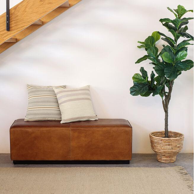 Kave Home Hocker 'Cesia' 140cm, kleur Bruin