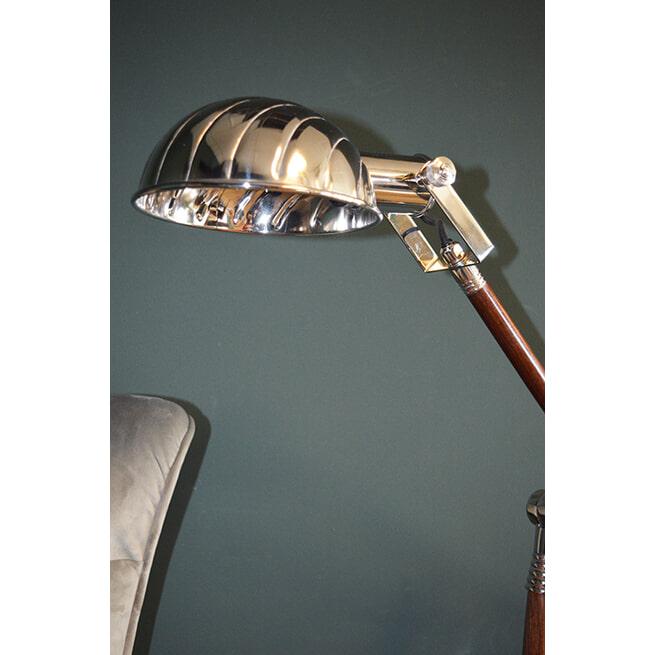 PTMD Tafellamp 'Corby', Mangohout, 50 x 20 x 45cm, kleur Zilver