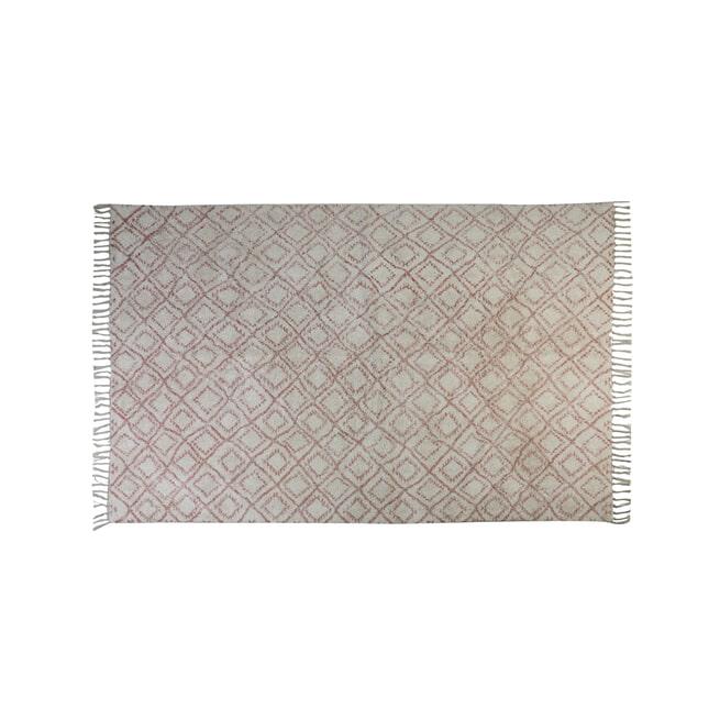 Light & Living Vloerkleed 'Boyaka', oud roze-wit ruitprint