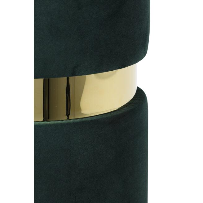 Light & Living Poef 'Jamee', velvet groen-goud