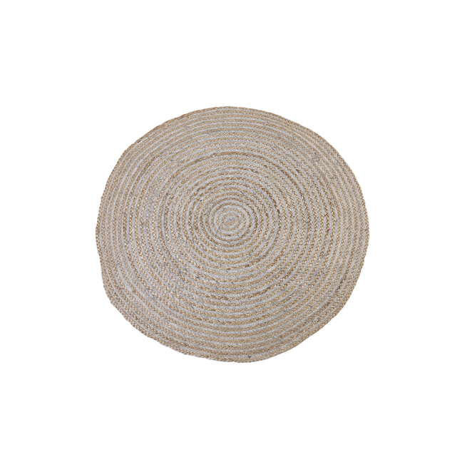 Light & Living Vloerkleed 'Irbi', jute naturel-wit