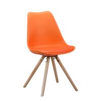 Eetkamerstoel 'Stefano', kleur oranje