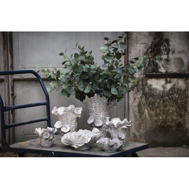 PTMD Pot 'Elysia', Keramiek, 32.5 x 29 x 30cm, kleur Wit