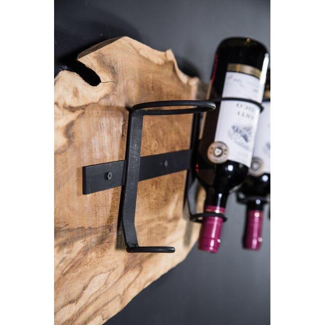 PTMD Wijnrek 'Juar', Hout, 100 x 18 x 3 cm, kleur Bruin