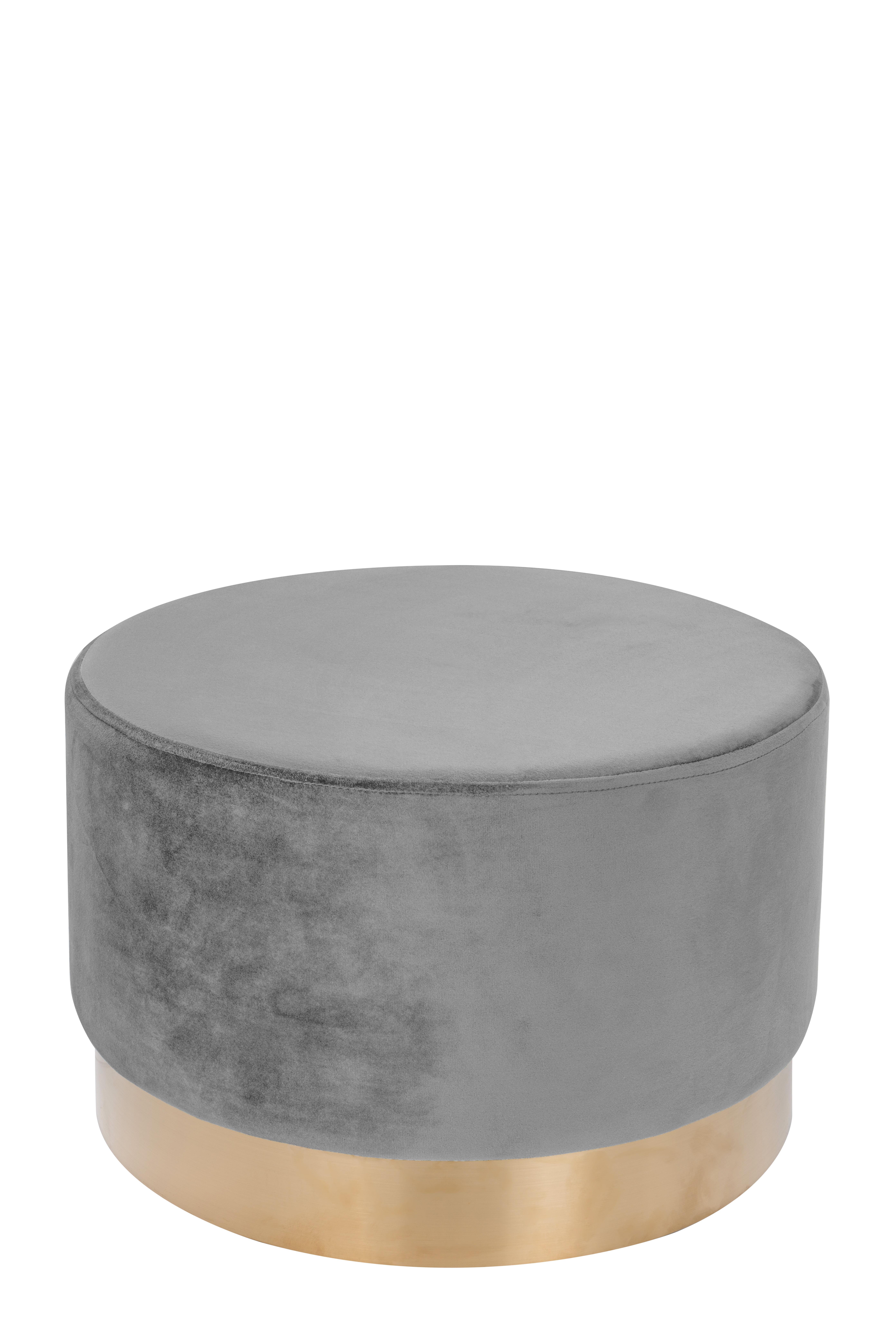 Kayoom Poef 'Nano' 55cm, kleur grijs