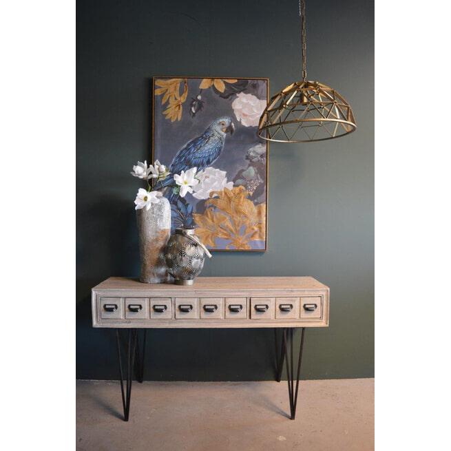 PTMD Hanglamp 'Denver', Metaal, 188.5 x 31.5 x 78.5cm, kleur Goud