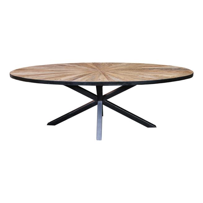 PTMD Ovale Eettafel 'Cleme' 220 x 110cm