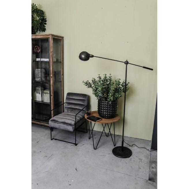 PTMD Vloerlamp 'Jaxy', Metaal, 188.5 x 78.5 x 31.5 cm, kleur Zwart
