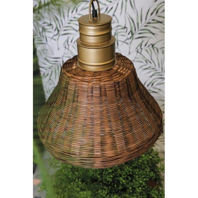 PTMD Hanglamp 'Rayen', Riet, 40 x 40 x 42cm, kleur Bruin