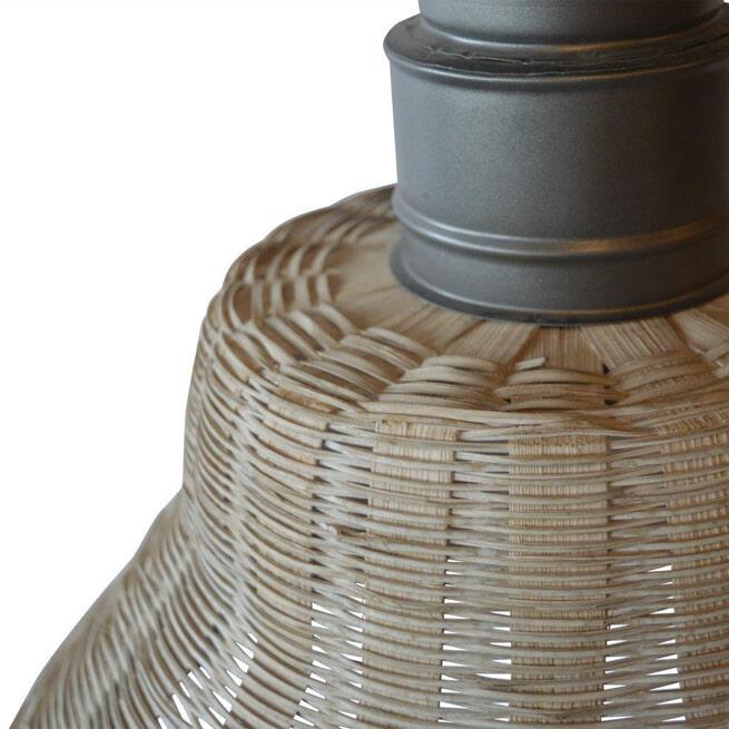 PTMD Hanglamp 'Rayen', Riet, 42 x 40cm, kleur Naturel