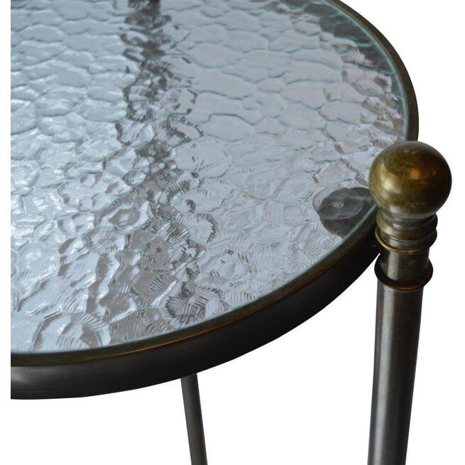 PTMD Zuil 'Denzel', Metaal en Glas, 91 x 40cm, kleur Goud