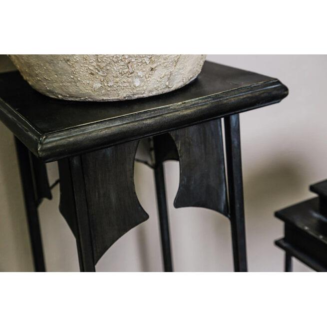 PTMD Zuil 'Tira', Metaal, 100 x 26 x 26cm, kleur Zwart