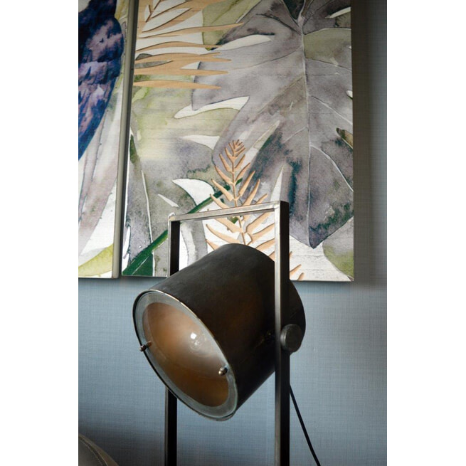 PTMD Vloerlamp 'Derek', Metaal, 120 x 23.5 x 29.5cm, kleur Zwart