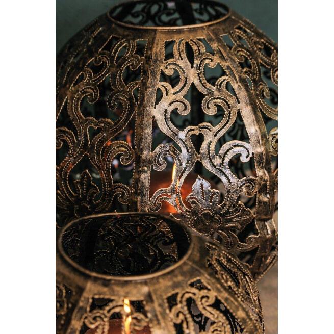 PTMD Windlicht 'Sima', Metaal, 42 x 44cm, kleur Bruin