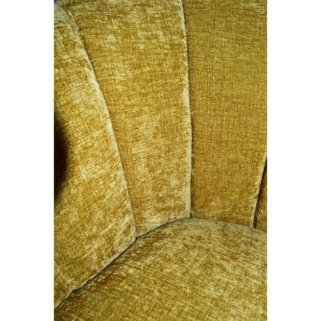 PTMD Fauteuil 'Hanna' Velvet, kleur Mosterd