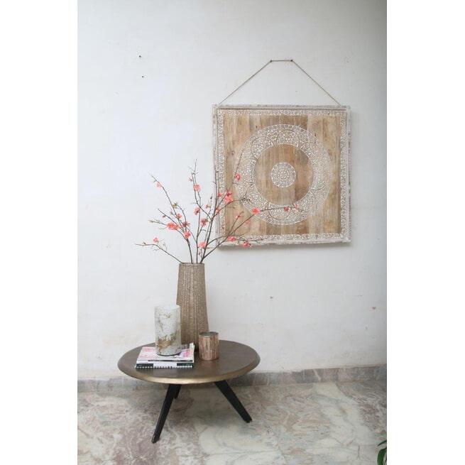 PTMD Wandpaneel 'Tonio', Hout, 61 x 61cm, kleur Bruin