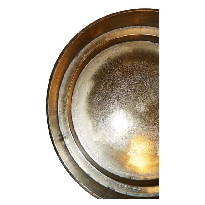 PTMD Schaal 'Mateo', Aluminium, 120 cm, kleur Goud