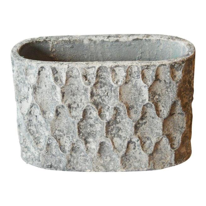 PTMD Pot 'Antonis', Keramiek, 33 x 20 x 50cm, kleur Grijs