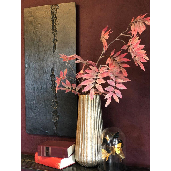 PTMD Wandpaneel 'Rino', Aluminium, 90 x 40cm, kleur Zwart