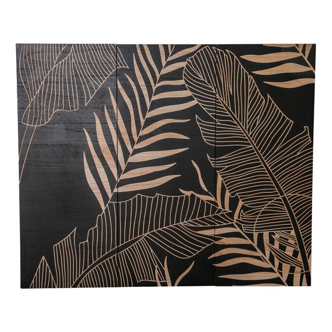 PTMD Wandpeel 'Neron Palms' Hout, 120 x 145cm