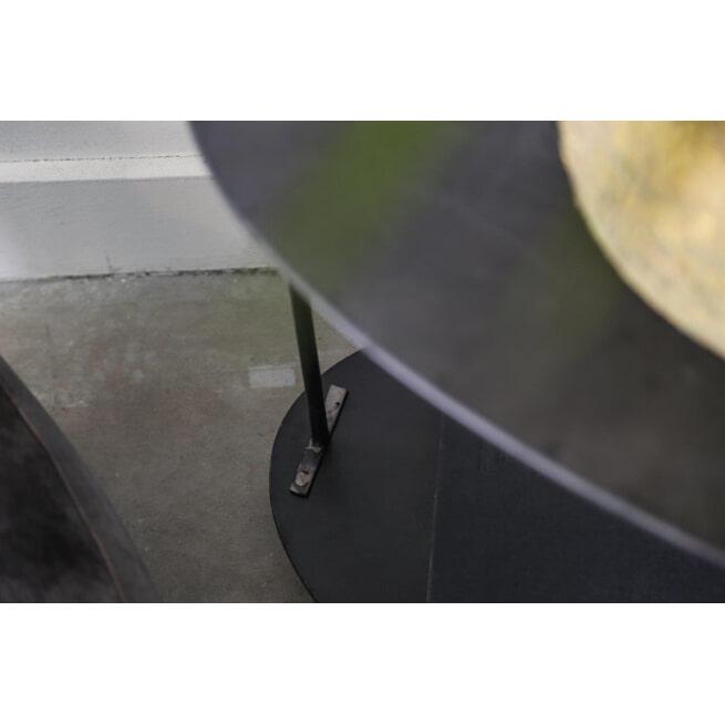 PTMD Bijzettafel 'Kris', Metaal, 59.5 x 44 x 56cm, kleur Zwart
