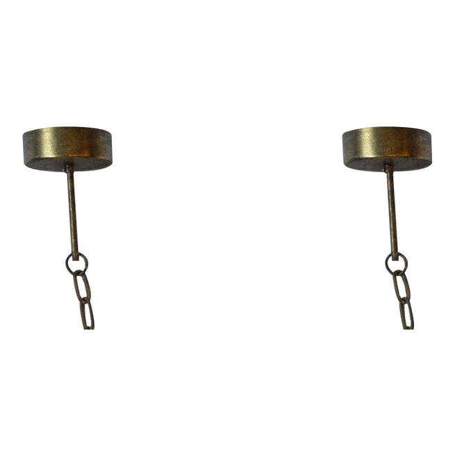 PTMD Plafondlamp 'Krister', Metaal, 64 x 64 x18cm, kleur Goud