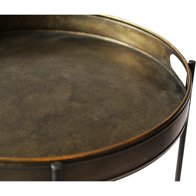 PTMD Bijzettafel 'Taren', Metaal, 74 x 50 x 50cm, kleur Goud