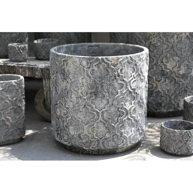 PTMD Pot 'Mirla', Cement, 40 x40cm, kleur Grijs