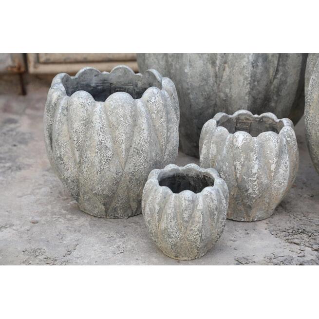 PTMD Pot 'Kyler', Cement, 40 x 40cm, kleur Grijs